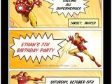 Iron Man Party Invites Looking for Ideas for Kids Birthday Parties
