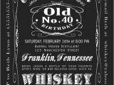 Jack Daniels 40th Birthday Invitations 40th Birthday Jack Daniels Whiskey Label Printable