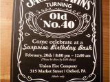 Jack Daniels 40th Birthday Invitations Jack Daniel S Inspired 40th Birthday Party Hostess with