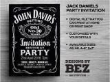 Jack Daniels 40th Birthday Invitations Jack Daniels Whiskey Style Party Invite Personalised