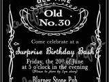 Jack Daniels Birthday Invitation Template Free Custom Jack Daniels Whiskey Invitation by