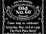 Jack Daniels Birthday Invitation Template Free Jack Daniels Invitation Templates