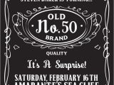 Jack Daniels Party Invitation Template Free Pin by Poster Vine On Typography Posters 50th Birthday