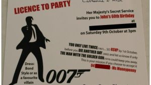 James Bond Party Invitations James Bond theme Party