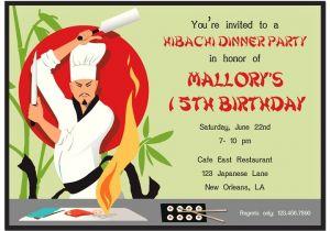 Japanese Dinner Party Invitations Hibachi Party Invitation by that Party Chick Hibachi