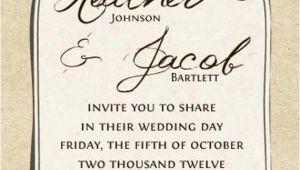 Jar Wedding Invitation Template Printable Kraft Mason Jar Wedding Invitation by Notableaffairs