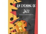 Jazz Party Invitations Chalkboard Jazz Blues theme Party Invitations Zazzle