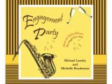 Jazz Party Invitations Personalized Saxophone Invitations Custominvitations4u Com