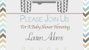 Jeep Baby Shower Invitations Jeep theme Baby Shower Invitation