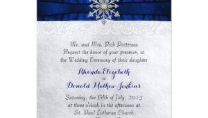 Jeweled Wedding Invitations Elegant Jeweled Snowflake Wedding Invitation Zazzle