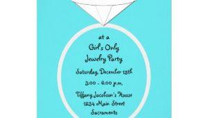 Jewelry Party Invitation Template Jewelry Party Invitation Template 5 Quot X 7 Quot Invitation Card