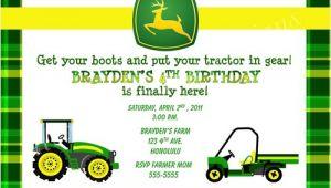 John Deere Party Invitations Free Birthday Invitations John Deere Farm Birthday