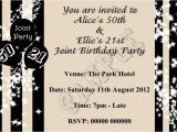 Joint Party Invitation Template Joint Birthday Party Invitations for Adults Birthday