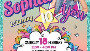Jojo Siwa Party Invitation Template Jojo Siwa Printable Invitation Customized In 2019 Jojo
