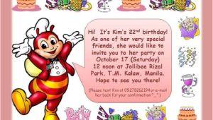 Jollibee Party Invitation Template Birthday Invitation Jollibee Invitation Templates Free