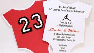 Jordan Baby Shower Invitations Jordan Jumpman Inspired Baby Shower Unique by Lovinglymine