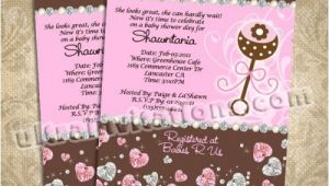 Juicy Couture Baby Shower Invitations Juicy Couture Baby Shower Invitations Personalized