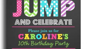 Jump Birthday Invitation Template Jump Invitation Printable or Printed with Free Shipping