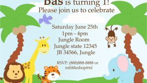 Jungle Party Invitation Template Free 40th Birthday Ideas Jungle Birthday Invitation Template Free