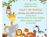 Jungle Party Invitation Template Free Cute Safari Jungle Birthday Party Invitations Zazzle