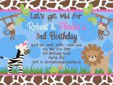 Jungle Party Invitation Template Free Free Birthday Party Invitation Templates Free Invitation