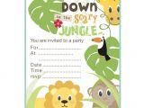 Jungle Party Invitation Template Free Jungle theme Birthday Invitations Free Printable Best
