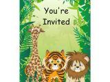 Jungle Party Invitation Template Free Jungle theme Birthday Invitations Zazzle Com