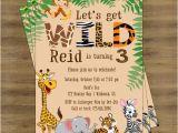 Jungle Party Invitation Template Free Safari Birthday Invitation Jungle Birthday Invitation Zoo
