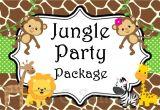 Jungle Party Invitation Template Jungle Safari Birthday Party Invitation by