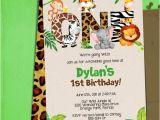 Jungle Safari Birthday Invitation Template Jungle 1st Birthday Party Invitation Template Jungle