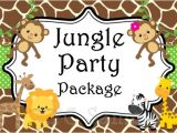 Jungle Safari Birthday Invitation Template Jungle Safari Birthday Party Invitation by