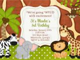 Jungle Safari Birthday Invitation Template Jungle Zoo Safari Birthday Invitation or Baby Shower