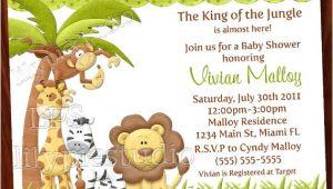 Jungle theme Baby Shower Invitation Wording 8 Best Of Jungle theme Invitations Free Printable