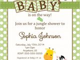 Jungle theme Baby Shower Invitation Wording Baby Shower Jungle theme Invitations