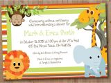Jungle theme Baby Shower Invitation Wording Jungle theme Baby Shower Invitation Wording