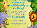 Jungle theme Baby Shower Invitation Wording Jungle themed Baby Shower Invitations – Gangcraft