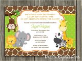Jungle theme Baby Shower Invitation Wording Printable Jungle Baby Shower Invitation