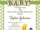 Jungle theme Baby Shower Invites Baby Shower Jungle theme Invitations