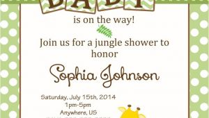Jungle theme Baby Shower Invites Baby Shower Jungle theme Invitations