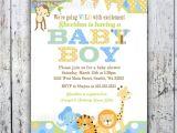 Jungle theme Baby Shower Invites Boy Baby Shower Invitations