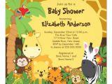 Jungle theme Baby Shower Invites Cute Safari Jungle Animals Baby Shower Invitations