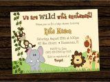 Jungle theme Party Invites Jungle themed 1st Birthday Invitations Safari 1st
