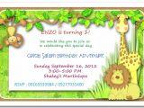 Jungle theme Party Invites Jungle themed 1st Birthday Invitations Safari themed