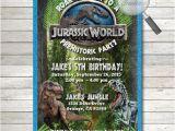 Jurassic World Party Invitation Template 7th Birthday Invitation theme Ideas Party Xyz