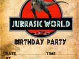 Jurassic World Party Invitation Template Birthday Party Invitations Jurassic World Dinosaurs T