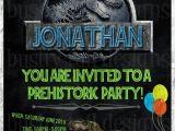 Jurassic World Party Invitation Template Jurassic World Birthday Invitation