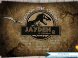 Jurassic World Party Invitation Template Jurassic World Birthday Invitation Personalized Jurassic