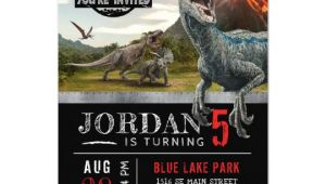 Jurassic World Party Invitation Template Jurassic World Dinosaur Birthday Invitation Zazzle Com