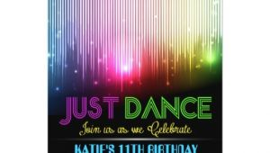 Just Dance Birthday Party Invitations Disco Just Dance Party Invitation Zazzle