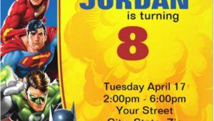Justice League Birthday Invitation Template 21 Superhero Birthday Invitations Psd Vector Eps Ai